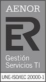 Certificado AENOR ISO 20000-1